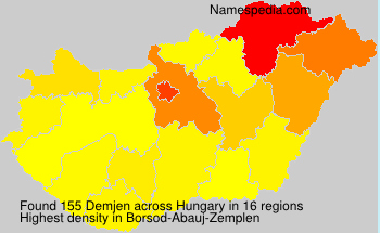 Surname Demjen in Hungary