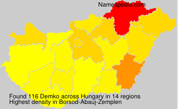 Surname Demko in Hungary