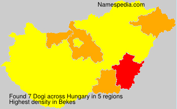 Surname Dogi in Hungary