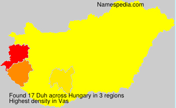 Surname Duh in Hungary