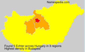 Surname Echter in Hungary