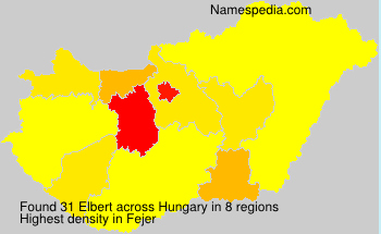 Surname Elbert in Hungary