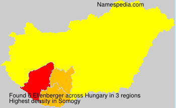 Surname Ellenberger in Hungary