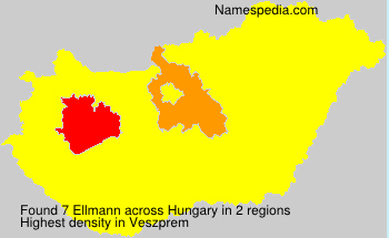 Surname Ellmann in Hungary