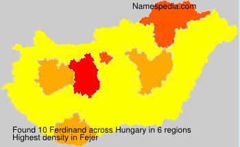 Surname Ferdinand in Hungary