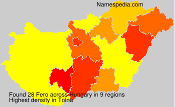Surname Fero in Hungary