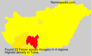 Surname Fetzer in Hungary