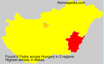 Surname Fodre in Hungary