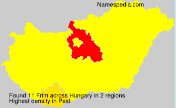 Surname Frim in Hungary