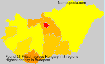 Surname Fritsch in Hungary