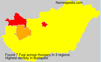 Surname Fugi in Hungary