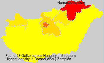 Surname Galko in Hungary