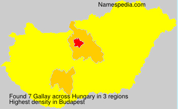 Surname Gallay in Hungary