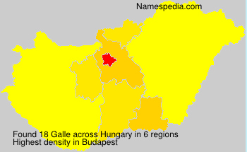 Surname Galle in Hungary