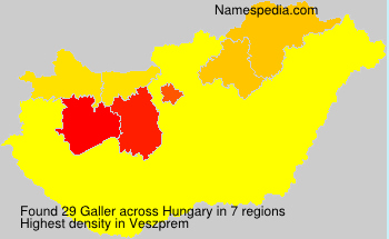 Surname Galler in Hungary