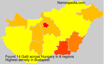 Surname Galli in Hungary