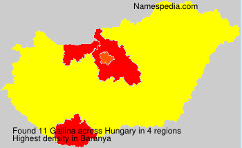 Surname Gallina in Hungary
