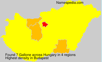 Surname Gallone in Hungary