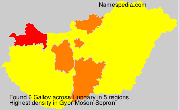 Surname Gallov in Hungary