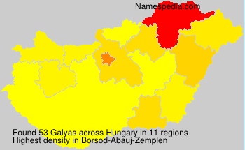 Surname Galyas in Hungary