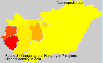 Surname Gango in Hungary