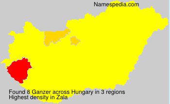 Surname Ganzer in Hungary