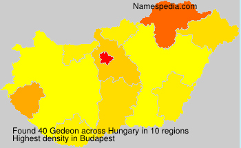 Surname Gedeon in Hungary