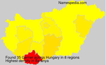 Surname Gerner in Hungary