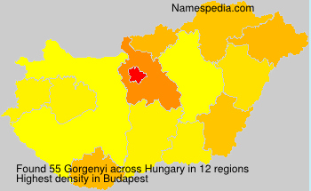 Surname Gorgenyi in Hungary
