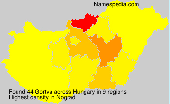 Surname Gortva in Hungary