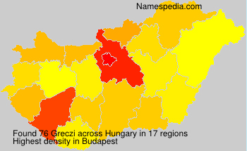 Surname Greczi in Hungary