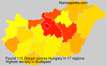 Surname Gregor in Hungary