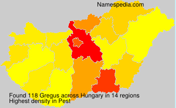 Surname Gregus in Hungary