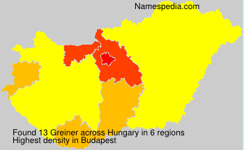 Surname Greiner in Hungary