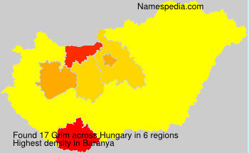 Surname Grim in Hungary