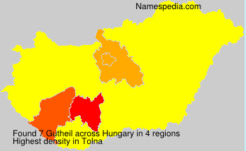 Surname Gutheil in Hungary