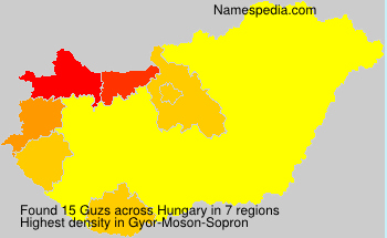 Surname Guzs in Hungary