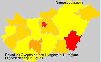 Surname Gyepes in Hungary