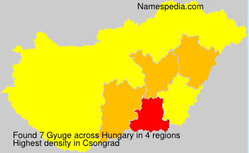 Surname Gyuge in Hungary