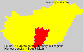 Surname Habran in Hungary