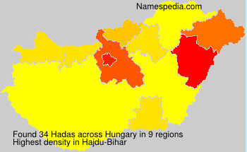 Surname Hadas in Hungary