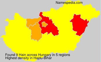 Surname Hain in Hungary