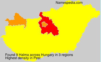 Surname Halma in Hungary