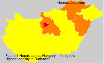 Surname Hapak in Hungary
