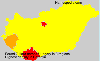 Surname Hara in Hungary