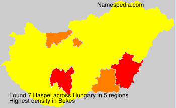 Surname Haspel in Hungary