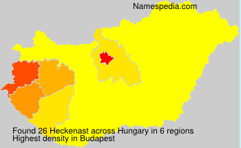 Surname Heckenast in Hungary