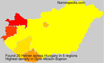 Surname Heiner in Hungary