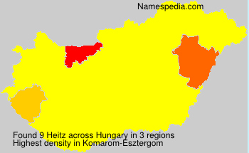 Surname Heitz in Hungary