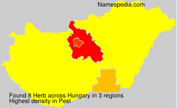 Surname Herb in Hungary